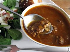 Gulasch Suppe (German Goulash Soup). One of my favorite german dishes!