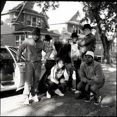 Run DMC & Posse, Hollis, Queens, New York City By Janette Beckman, 1984