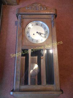 Lot # : 221 - Vintage German Kienzle Wall Clock with Chimes