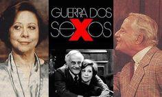"""""""Guerra dos Sexos"""" (1983): os primos Otávio (Paulo Autran) e Charlô (Fernanda Montenegro), brigam constantemente."""