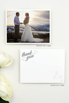 Wedding Thank You Cards Photo  Wedding Thank You Card  Photo