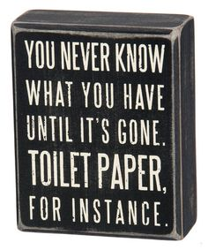 Look what I found on #zulily! 'Toilet Paper' Box Sign #zulilyfinds