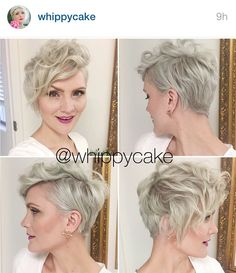 Long pixie with curl