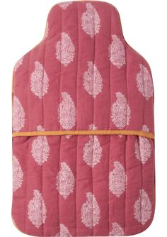 Paisley print hottie cover in a traditional Mughal design. Soft, warm, brushed cotton flannel. Lined and with plenty of wadding. Envelope opening.
