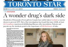 How a major newspaper bungled a vaccine story, then smeared its critics  The Toronto Star,Canada's highest-circulation daily newspaper, has built a reputation for excellentinvestigative reporting, including justlycelebratedexposes of TorontoMayor Rob Ford.  http://www.latimes.com/business/hiltzik/la-fi-mh-how-a-major-newspaper-20150213-column.html