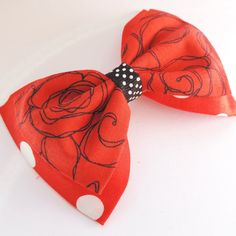 Red Pin Up Hair Clip by RockabellasClothing on Etsy. One of a kind and only $8! A must have! Click to know more about Rockabella's amazing Pinup line.
