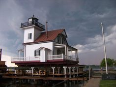 Roanoke River Light House- Now newly located on Edenton Bay..Edenton NC