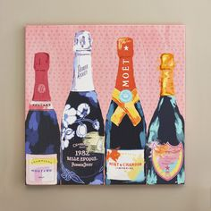 Found it at AllModern - Pass the Bottle! Graphic Art on Wrapped Canvas