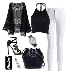 """""""black &  white"""" by andy-ag on Polyvore featuring Jimmy Choo, Lacoste, Barbour International and NLY Accessories"""