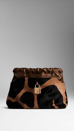 The Little Crush in Animal Print Calfskin | Burberry