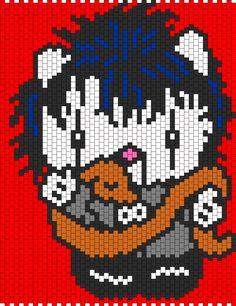 Alice Cooper Hello Kitty bead pattern