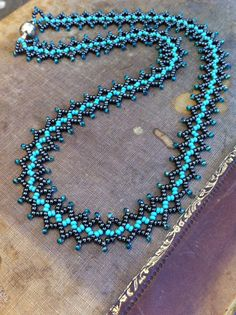 Bead Weave Necklace. Statement Seed Bead Necklace. by CoraliBondi
