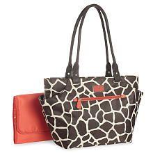 Carters Tote Bag - Giraffe Print---LOVE DIAPER BAGS THAT DONT LOOK LIKE DIAPER BAGS