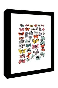 Butterflies Framed Wall Art by Andy Warhol.