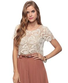 Cropped Lace Top - StyleSays