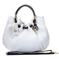 Michael Kors Ring Embossed Large White Drawstring Bags Outlet