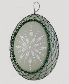 Drátované kraslice Egg Art, Egg Decorating, Easter Eggs, Christmas Bulbs, Beads, Holiday Decor, Wire, Handmade, Embellishments