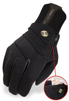 """The Polarstretch Fleece glove offers a warm, comfortable custom fit with our soft stretchable Fleece design. Made with our exclusive Heritage breathable """"Polarstretch"""" soft fleece material, which features stretch in all directions. The palm is made with durable nylon stretch fleece with grip pattern to help keep control on the reins."""