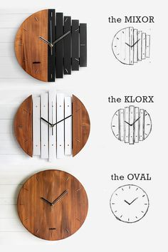 Handmade wooden wall clocks by Paladim. Add some outstanding home decor with these beauties! Handmade wooden wall clocks by Paladim. Add some outstanding home decor with these beauties! Wooden Desk Lamp, Wall Clock Wooden, Wood Clocks, Wooden Walls, Wooden Decor, Diy Clock, Clock Decor, Diy Wall Decor, Handmade Home