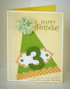 Quick & Easy Party Hat Birthday Card  1/26/12