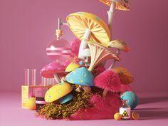 Mushrooms by Peter Tarka #Design Popular #Dribbble #shots