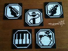 Rock Band Coasters perler beads by RockerDragonfly on deviantart