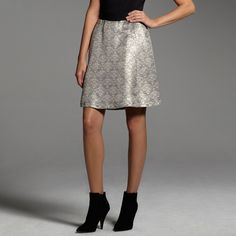 Narciso Rodriguez for DesigNation jacquard skirt Perfect for that spur of the moment holiday gathering! #KohlsDreamLooks