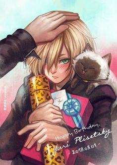 By the time I'm pinning this His birthday was yesterday! Happy 17th Yurio!