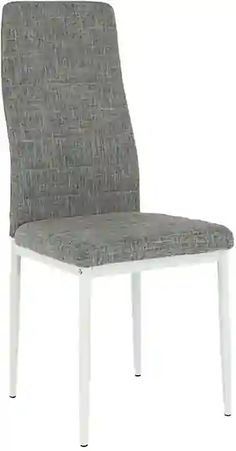 Stolička, svetlosivá látka/biely kov, COLETA NOVA Accent Chairs, Nova, Furniture, Home Decor, Upholstered Chairs, Decoration Home, Room Decor, Home Furnishings, Home Interior Design