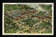Massachusetts MA Vintage postcard Pittsfield, Aerial view of General Electric