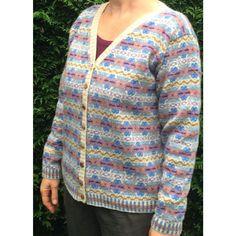 Sophie Pastel - een Fair Isle vest in zachte tinten.