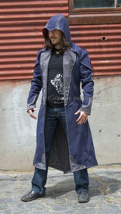 Suit Fashion, Mens Fashion, Fashion Outfits, Asasin Creed, Post Apocalyptic Clothing, Cool Coats, Uniform Design, Superhero Design, Suit Of Armor