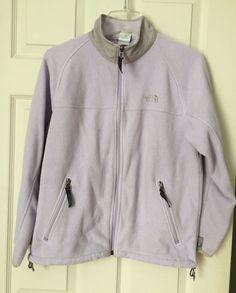 The North Face Lavander Feece Zipper Long Sleeve Jacket Junior Youth Large #TheNorthFace #FleeceJacket #Everyday