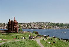 Gasworks park. It's one of the strangest and most unique parks you'll ever see, and has been in numerous movies including 10 Things I Hate About You. The most noticeable thing is the structures left from the old gasification plant that was there, some of which have been painted and turned into a play area. It also has a great hill for flying kites and some amazing views...a great spot for a picnic!