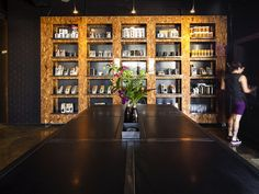 Oriented Strand Board used for storage.   Code Black Coffee: Two Melbourne Warehouses Merge to Create In...