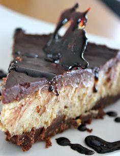 Anne Laila´s verden: Ostekake - med sjokolade og peanøttsmør