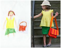 """Rainbow Chic""  Kid designed, Mama made...as part of the K.I.D.S. series..."