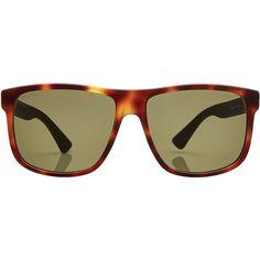 tortoiseshell oversized sunglasses - Brown Gucci sgM8eGclko