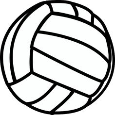 free printable volleyball clip art shape collage shapes rh pinterest com volleyball clipart free images free volleyball clipart images
