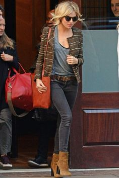 Sienna looking chic and bohemian as usual. Love the booties