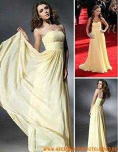 2013 Schlichtes Abendkleid aus Chiffon Kolumne mit Schleppe