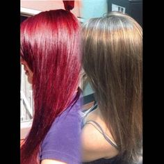 COLOR CORRECTION: Hot Red To Classic Highlights | Modern Salon