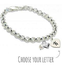 Silver Jasseron Bracelet 'Initial' - KAYA jewellery UK