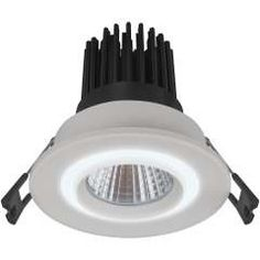 Energy efficient Corinth integrated LED downlight with integrated power supply for recessed installations. beam angle with flicker-free light output.