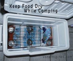 HOW TO KEEP YOUR FOOD DRY IN A COOLER WHILE CAMPING… Genius!