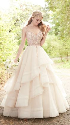 Featured Dress: Martina Liana; Wedding dress idea. #BeautifulDresses