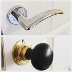 Sunday New Build Home Hack #1: replace standard tragic contempo disaster handles with lovely ebonised wood and brass knobs (thank you eBay). Such a simple hack but utterly transformational! #homehacks #diy #addcharactertothehome #brass #interiordesign #interior #homes #houselove #homewares #housedoctor #ebonisedwood #doorknobs #doorhandle #cotswoldtales