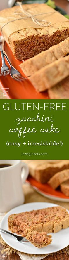 Gluten-Free Zucchini Coffee Cake is dense, just sweet enough, and full of…