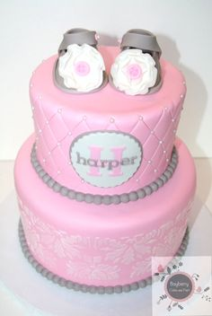 Baby shower cake/ jamie this is super cute for a girl