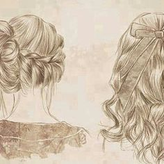 Hairstyle drawing